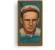 Benjamin K Edwards Collection Robert Harmon St Louis Cardinals baseball card portrait 001 Canvas Print