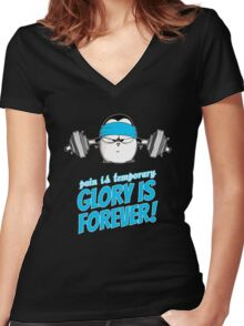 Pain Is Temporary, Glory Is Forever! v.3 Women's Fitted V-Neck T-Shirt