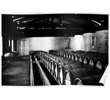 Wine Barrels of Bordeaux Poster