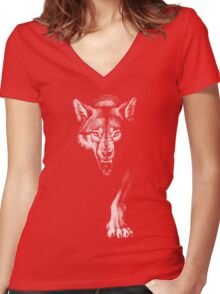 On The Prowl Women's Fitted V-Neck T-Shirt