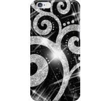 Silver Glitter Swirl iPhone Case/Skin