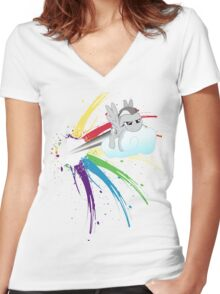 Shed Your Colours  Women's Fitted V-Neck T-Shirt