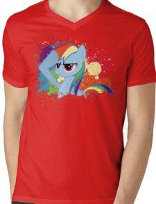 Salute to Rainbow Dash Mens V-Neck T-Shirt