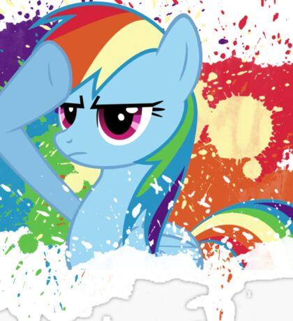 Salute to Rainbow Dash Sticker