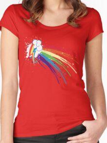 Rainbow Slash Women's Fitted Scoop T-Shirt