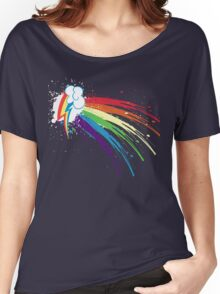 Rainbow Slash Women's Relaxed Fit T-Shirt