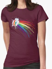 Rainbow Slash Womens Fitted T-Shirt