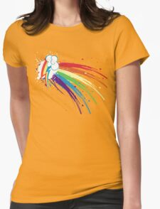Rainbow Slash Womens Fitted T-Shirt