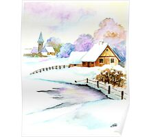 A Beautiful Winter Day - Aquarel Poster