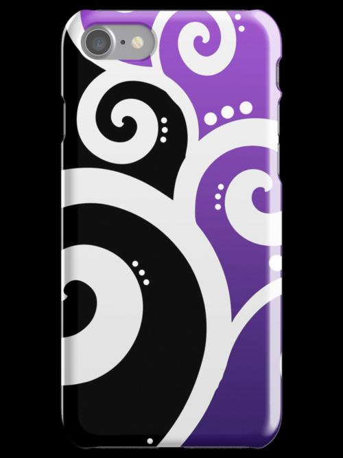 Elegant Swirls Purple by Rewards4life