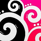 Elegant Swirls Pink by Rewards4life