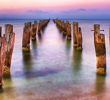 Clifton Springs Sunset by Richard  Cubitt