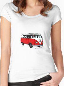 Volkswagen T2 Women's Fitted Scoop T-Shirt