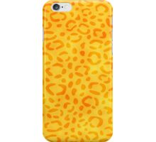 Yellow Leopard Print iPhone Case/Skin