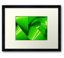 Really Green Bow Framed Print