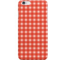 Red Checkerboard iPhone Case/Skin