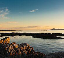 Evening sunlight, Eigg, Ardnamurchan, Sea, Sky by Hugh McKean