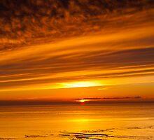 Sunset, Solway Firth, Dumfriesshire, Scotland, winter by Hugh McKean