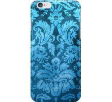 Blue Decorative Vintage Flowers iPhone Case/Skin