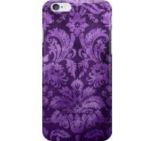 Purple Decorative Vintage Flowers iPhone Case/Skin