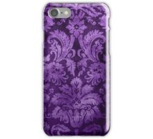 Purple Decorative Vintage Flowers iPhone Case/Skin