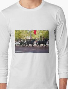 The King's Troop, Royal Horse Artillery in the Mall during the Chinese State visit Long Sleeve T-Shirt