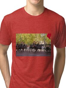 The King's Troop, Royal Horse Artillery in the Mall during the Chinese State visit Tri-blend T-Shirt