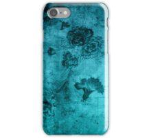 Blue Vintage Flowers Texture iPhone Case/Skin