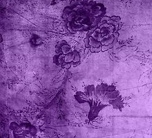 Purple Vintage Flowers Texture by Rewards4life