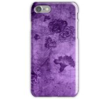 Purple Vintage Flowers Texture iPhone Case/Skin