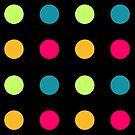 Candy Polka Dot Blue On Black by Rewards4life