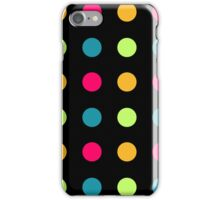 Candy Polka Dot Blue On Black iPhone Case/Skin