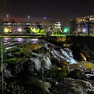 *Night on Reedy River Falls* by DeeZ (D L Honeycutt)