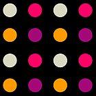 Candy Polka Dot Purple On Black by Rewards4life