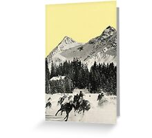 Winter Races Greeting Card
