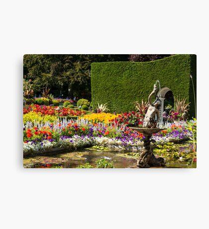 Italian Courtyard, Butchart Gardens Canvas Print