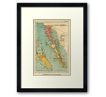 Vintage Map of Baja California (1899) Framed Print