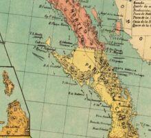 Vintage Map of Baja California (1899) Sticker