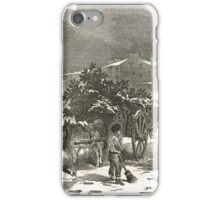 The Holly Cart Victorian Christmas 1848 iPhone Case/Skin
