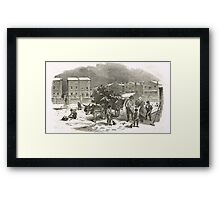 The Holly Cart Victorian Christmas 1848 Framed Print