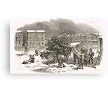The Holly Cart Victorian Christmas 1848 Canvas Print