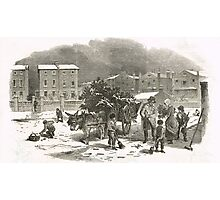 The Holly Cart Victorian Christmas 1848 Photographic Print