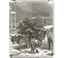 The Holly Cart Victorian Christmas 1848 iPad Case/Skin