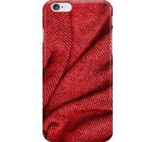 Red Tweed Texture iPhone Case/Skin