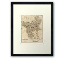 Vintage Map of The Balkans (1832) Framed Print