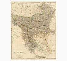 Vintage Map of The Balkans (1832) Unisex T-Shirt