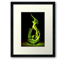 Just a Radioactive Flame Framed Print