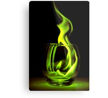 Just a Radioactive Flame Metal Print