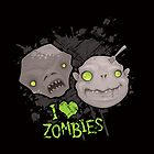Zombie Heads iPhone Case by fizzgig