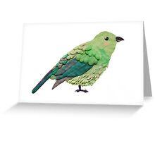 Plasticine bird Greeting Card